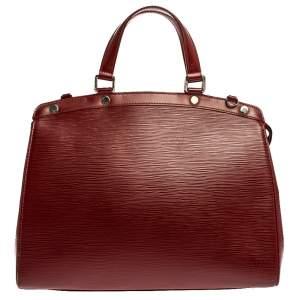 حقيبة لوي فيتون بريه جلد أيبي حمراء ياقوتية GM