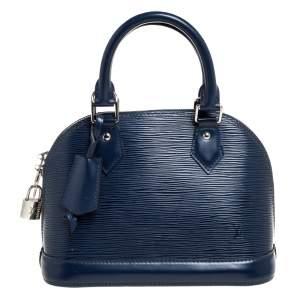 Louis Vuitton Indigo Epi Leather Alma BB Bag