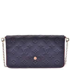 Louis Vuitton Blue Monogram Empreinte Félicie Pochette Bag