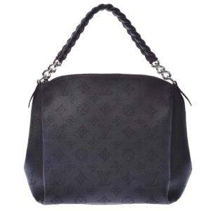 Louis Vuitton Black Mahina Babylone Leather Chain BB Bag