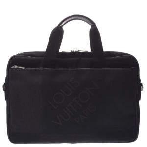 Louis Vuitton Black Damier Jean Canvas Business Bag