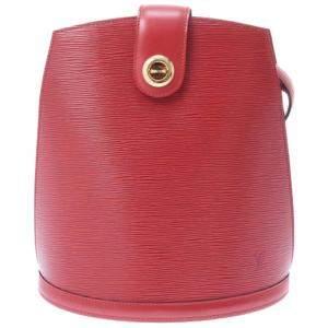 حقيبة كتف لوى فيتون كلونى جلد أيبى حمراء
