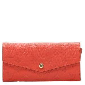 Louis Vuitton Orange Monogram Empreinte Canvas Curieuse Long Wallet