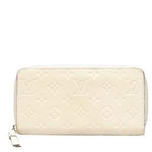 Louis Vuitton White Monogram Empreinte Zippy Wallet