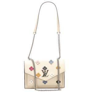 Louis Vuitton Beige/Brown Leather MyLockMe Fleurs BB Bag