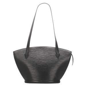 Louis Vuitton Black Leather Saint Jacques PM Bag