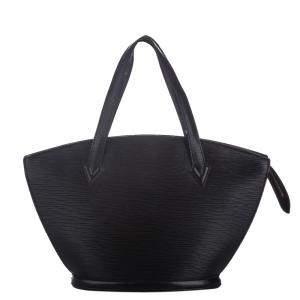 """حقيبة لوي فيتون """"سان جاكوبز پي إم"""" حمالات قصيرة جلد إيبي أسود"""