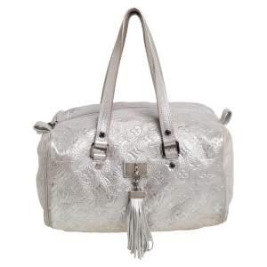 Louis Vuitton Silver Monogram Shimmer Limited Edition Comete Bag