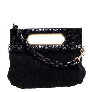 Louis Vuitton Black Monogram Suede and Patent Leather Limited Edition Motard Afterdark Bag