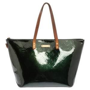 Louis Vuitton Blue Nuit Monogram Vernis Bellevue GM Bag