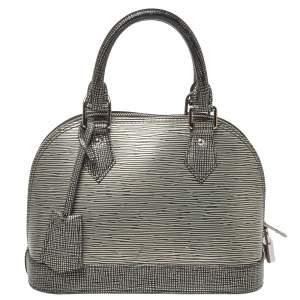 """حقيبة لوي فيتون """"ألما بي بي"""" جلد إيبي فضي"""