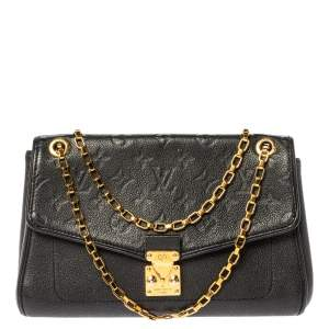 Louis Vuitton Black Monogram Empreinte Leather St Germain PM Bag
