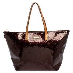 """حقيبة لوي فيتون """"بيليفو جي إم"""" جلد لامع مونوغرامي عنابي"""