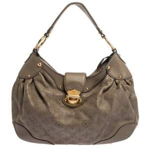 Louis Vuitton Taupe Monogram Mahina Leather Solar PM Bag
