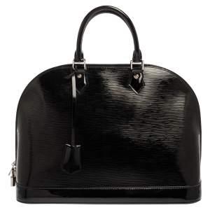 """حقيبة لوي فيتون """"ألما جي إم"""" جلد إيبي إليكتريك أسود"""