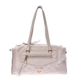 Louis Vuitton White Monogram embossed Leather Empreinte Inspiree Bag