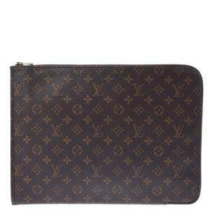 Louis Vuitton Brown Monogram Canvas Poche Documents Clutch