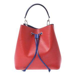 Louis Vuitton Red and Blue Epi Leather Neo Noe Bag