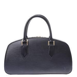 """حقيبة لوي فيتون """"جاسمين"""" جلد إيبي أسود"""
