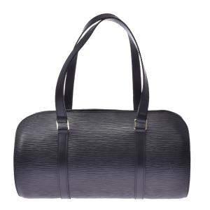 """حقيبة لوي فيتون """"سوفلوت"""" جلد إيبي أسود"""