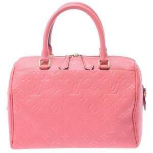 Louis Vuitton Pink Empreinte Leather Speedy Bandouliere 25 Bag