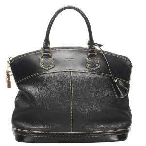 Louis Vuitton Black Leather Suhali Lockit MM Bag