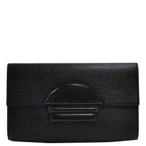 Louis Vuitton Black Epi Leather Pochette Chaillot Clutch