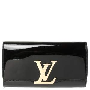 Louis Vuitton Black Vernis Louise Clutch