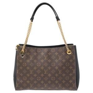 Louis Vuitton Black Monogram Canvas Surene MM Bag