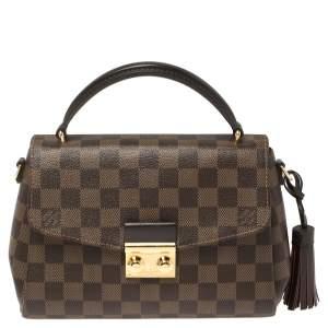 Louis Vuitton Damier Ebene Canvas Croisette Bag