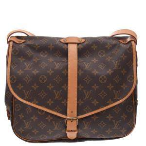 Louis Vuitton Brown Monogram Canvas Saumur 35 Bag