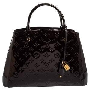Louis Vuitton Amarante Monogram Vernis Montaigne MM Bag