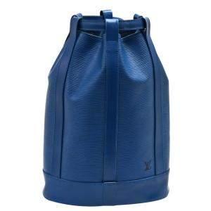 حقيبة لوي فيتون راندوني جلد إيبي زرقاء