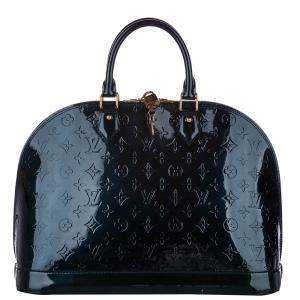 Louis Vuitton Green Monogram Vernis Alma MM Bag