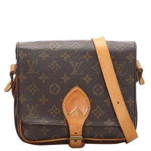 Louis Vuitton Monogram Canvas Cartouchiere MM Bag