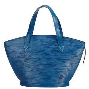 """حقيبة لوي فيتون """"سان جاكوب پي إم"""" جلد إيبي أزرق"""
