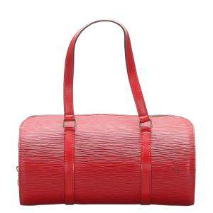 Louis Vuitton Red Epi Leather Soufflot Bag