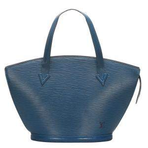 Louis Vuitton Blue Epi Leather Saint Jacques Short Straps PM Bag