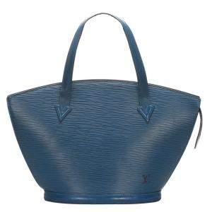 """حقيبة لوي فيتون """"سان جاكوب پي إم"""" حمالات قصيرة جلد إيبي أزرق"""