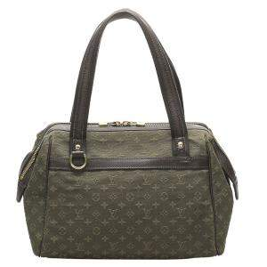 Louis Vuitton Green Monogram Mini Lin Josephine GM Bag
