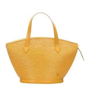 حقيبة لوي فيتون سان جاك جلد أصفر بحمالات صغيرة