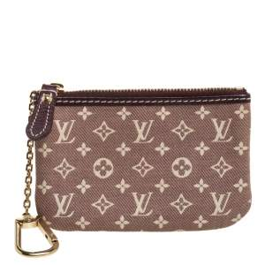 Louis Vuitton Mini Lin Monogram Canvas Zippy Purse