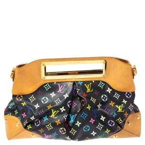 Louis Vuitton Black Multicolore Monogram Canvas Judy GM Bag