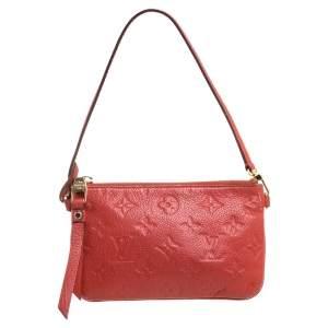 Louis Vuitton Coral Red Monogram Empreinte Leather Citadine Pouch