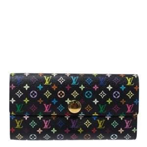 Louis Vuitton Black Multicolor Monogram Sarah Wallet