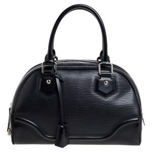 Louis Vuitton Black Epi Leather Bowling Montaigne PM Bag