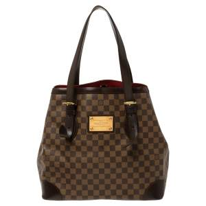 Louis Vuitton Damier Ebene Canvas Hampstead GM Bag