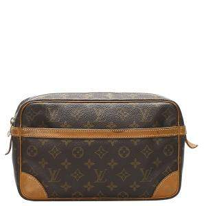 Louis Vuitton Brown Monogram Canvas Pochette Compiegne Clutch Bag