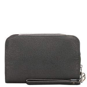 Louis Vuitton Black Leather Taiga Baikal Clutch