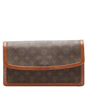 Louis Vuitton Brown Monogram Canvas Pochette Dame GM Clutch